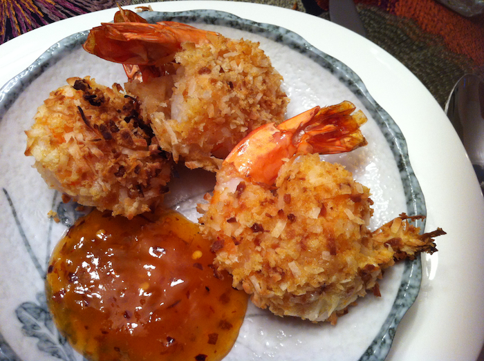 Baked Coconut Shrimp with Apricot Dipping Sauce - A Seat at the Table